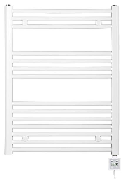 aquapont alta calidad eléctrico Radiador de baño – Calefacción – : Color Blanco de Forma recta