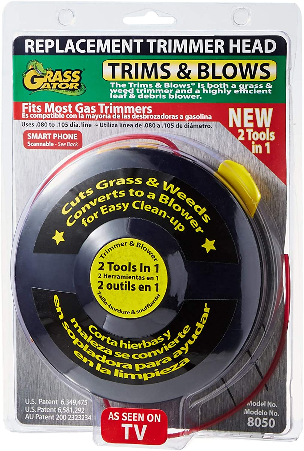 Grass Gator 8050 Hurricane Trim & Blow Replacement String Trimmer Head