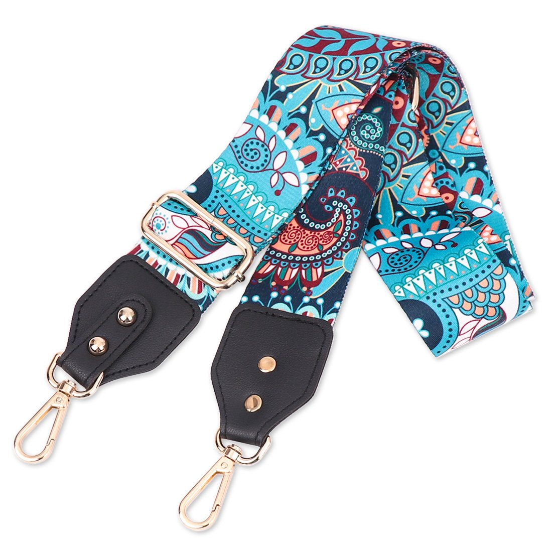 Louty 2'' Wide Adjustable Handbag Purse Strap Replacement Guitar Style Multicolor Canvas Crossbody Bag Straps by LOUTY (Image #1)