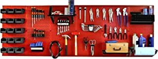 product image for Pegboard Organizer 8 ft Wall Control Pegboard Master Workbench Kit with Red Toolboard and Black Pegboard Hooks