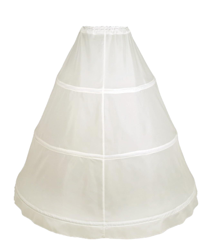 Flora® 3 Hoop Bridal Wedding Petticoat/Prom Underskirt,Size S-XL Size XS-XXL (Elfenbein)