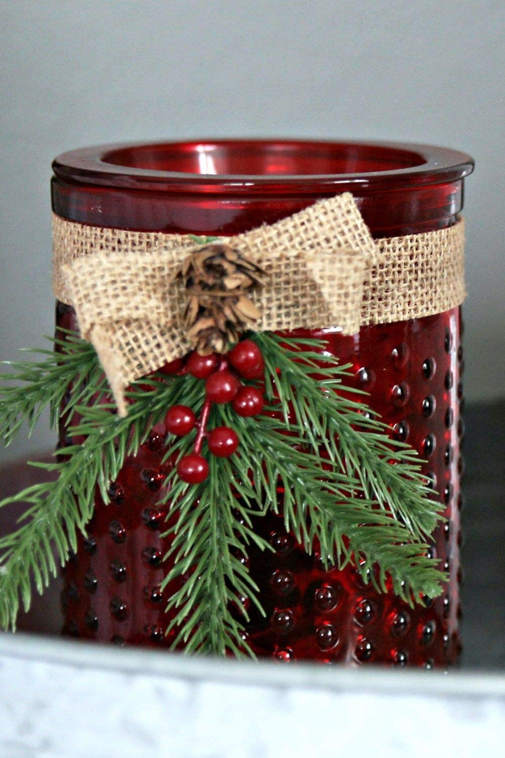 Electric 2-in-1 Candle Warmer Wax Melter - 2 Piece Ceramic Burner Melts Scented Candles Oil Fragrances Tart Cubes - Odor Eliminating Plug in Flameless Air Freshener - Holiday Christmas Decor