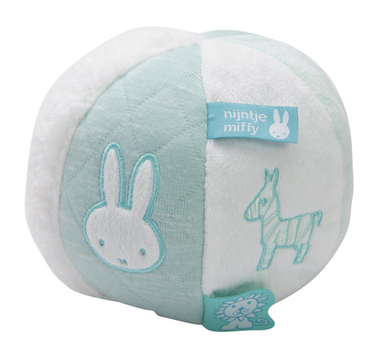Tiamo Hase Miffy Babyball mint Ball aus Nickiplüsch mit Glöckchen