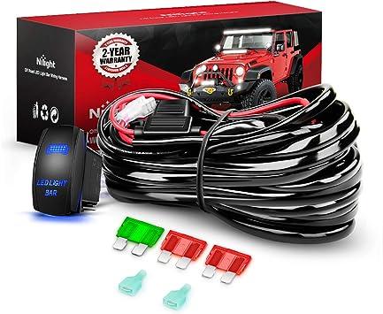 3 Lead Up to 312W Offroad Wiring Harness Kit SASQIATCH Rocker Switch 12AWG