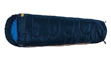 Easy Camp Mumienschlafsack Cosmos Junior - Saco de Dormir Momia para Acampada, Color Azul,