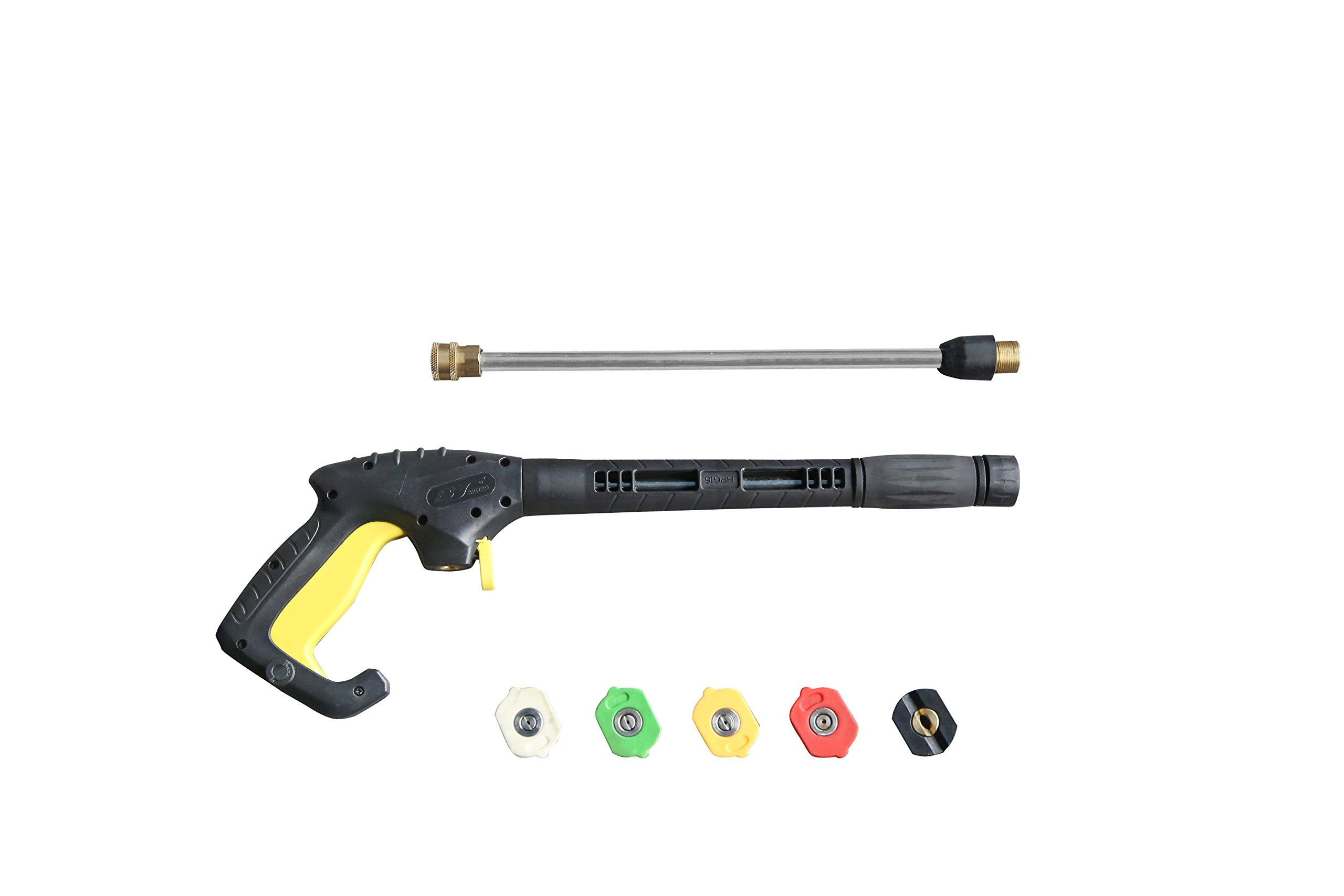 Realm Pressure Washer HPG16 Gun,3000 PSI with 5 Colors Pressure Washer Nozzles by Realm