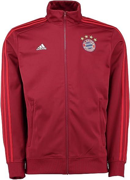 Veste Bayern Munich adidas 3 Stripes Rouge