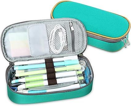 Multifuncional Estuche de lápices estuches escolar Adolescente, Bolsa de Lápiz Portable Lapicero, Estuche Escolar de Gran Capacidad (Verde): Amazon.es: Oficina y papelería