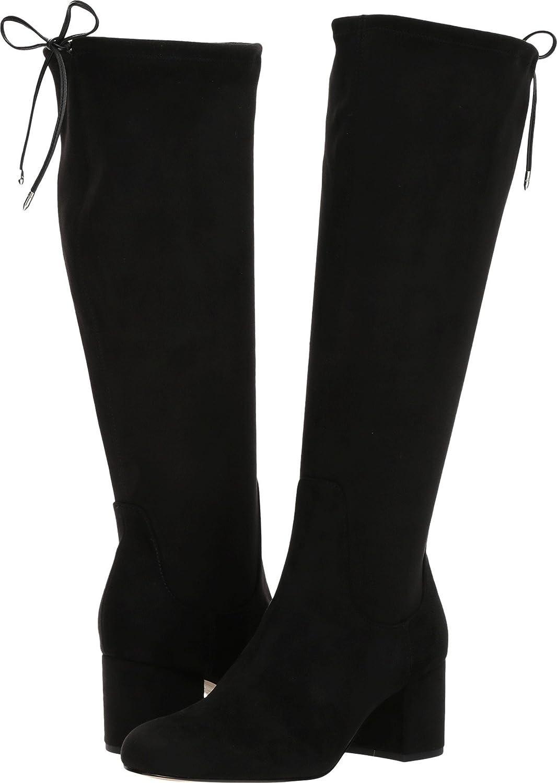 Sam High Edelman Women's Vinney Knee High Sam Boot B06XJKVQLG 8 C/D US|Black Royal Stretch 426407