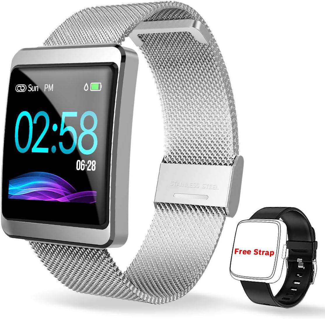 CanMixs Pulsera de Actividad Smartwatch, CM11 Impermeable IP68 Pulsera Inteligente con Podómetro, Monitor de Ritmo, Calorías, Sueño Notificación etc para Hombre Mujer Niños Compatible con iOS Android