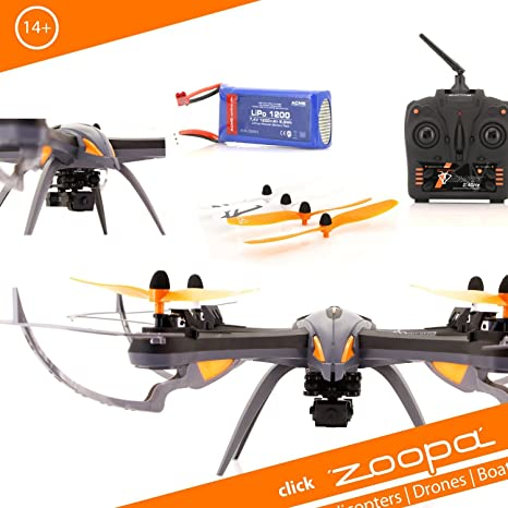 Zoopa Q 600 Mantis - 6-Axis Gyro RC Quadcopter Drone with integrated HD Camera