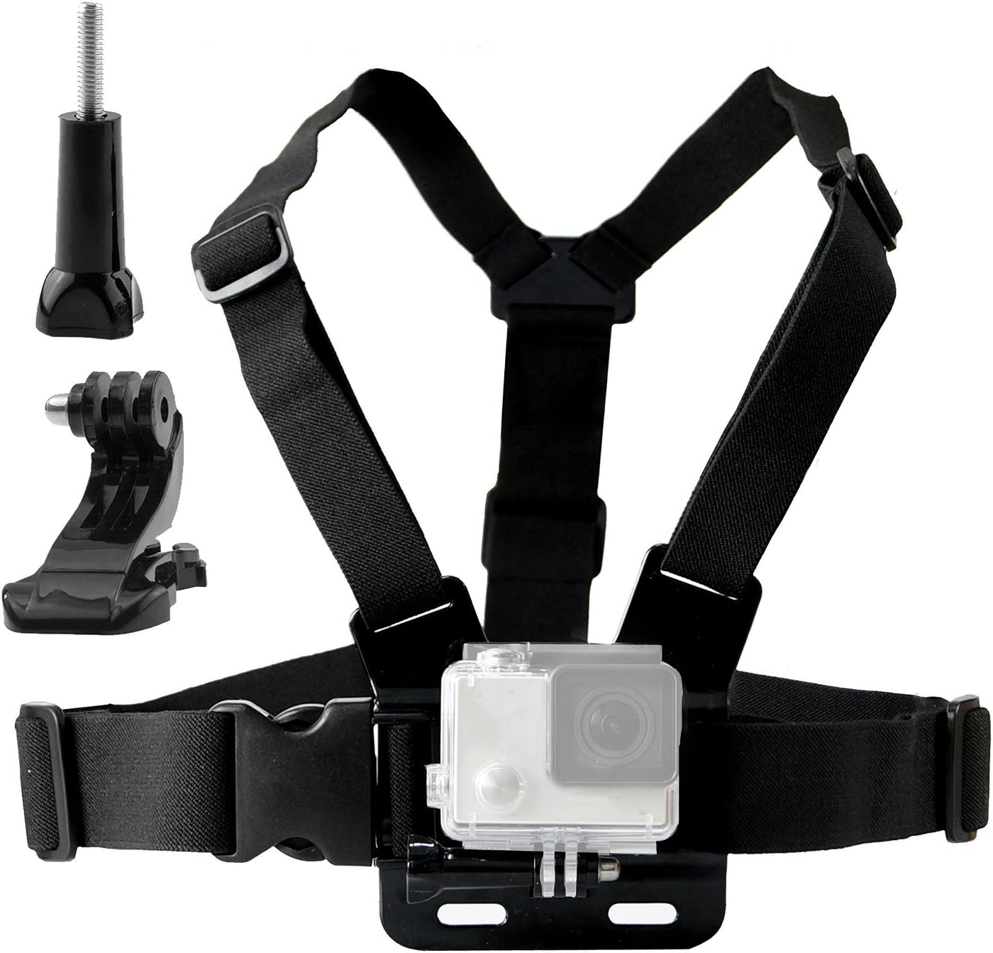 Navitech Action Camera Backpack with Integrated Chest Strap Compatible with The Nilox Mini UP Mini WI-FI Action Camera