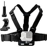 TEKCAM Adjustable Chest Harness Mount J Hook Mount Compatible Gopro Hero 6 5/AKASO/Apeman/DBPOWER/WIMIUS/Lightdow/SOOCOO 4k Action Sports Outdoor Cameras Accessories (Camera Not Included)