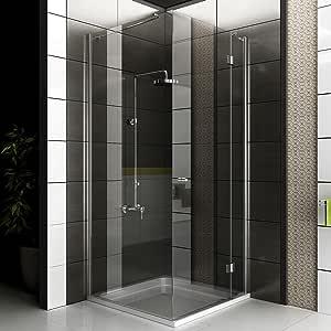 Cabina de ducha funshirt/cuadro gimnasio ducha/alpen Berger/90 x 200 cm aprox ducha/cabina de ducha de vidrio con juego de accesorios: Amazon.es: Hogar