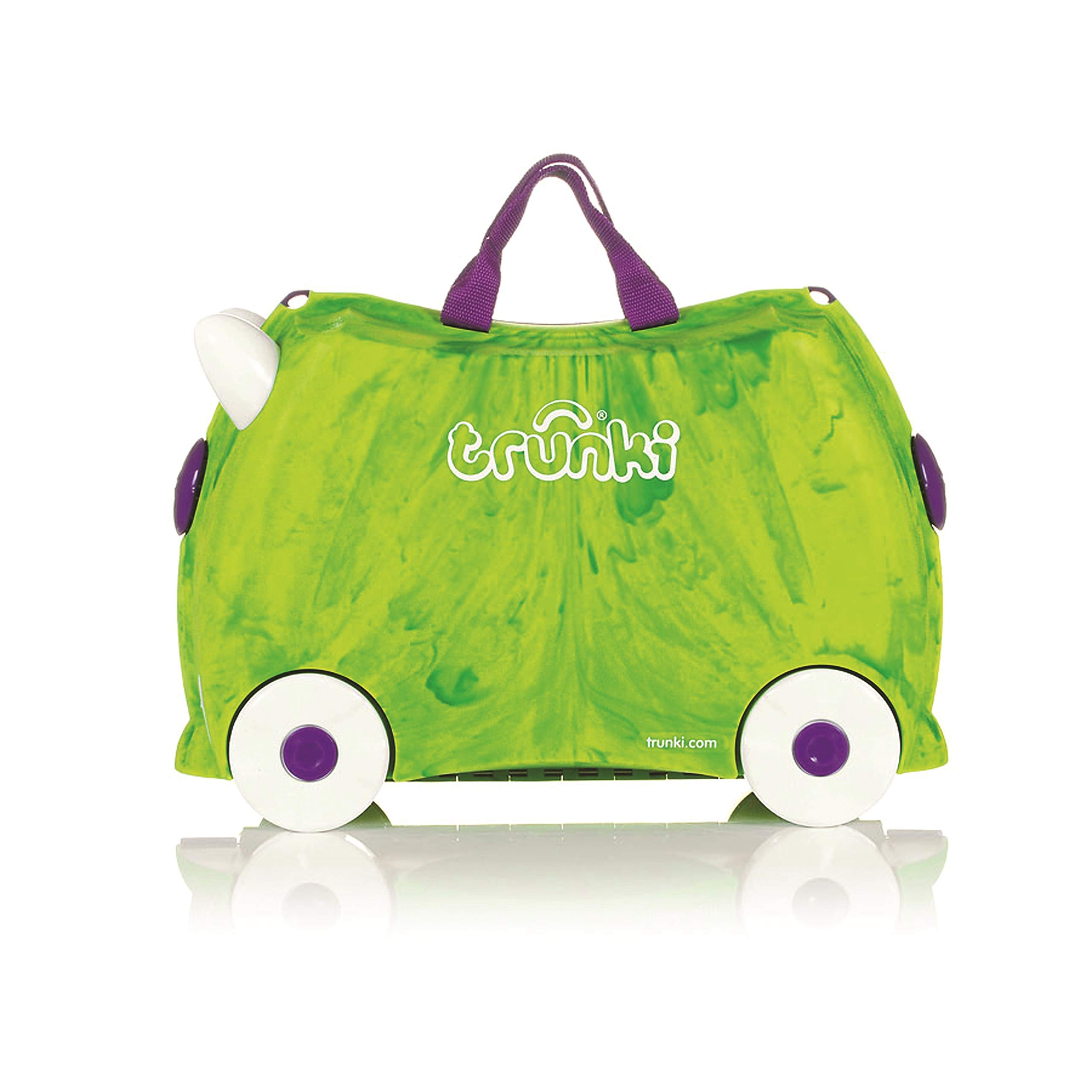 Trunki Original Kids Ride-On Suitcase and Carry-On Luggage - Trunkisauras Rex (Green) by Trunki (Image #3)