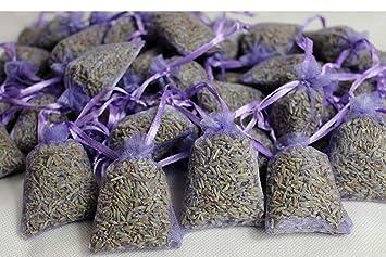 20 bolsas de lavanda Provence   sabores aromáticos   ambientador   sueño calmante   relajación   repelente de polillas (5 x 7 cm)