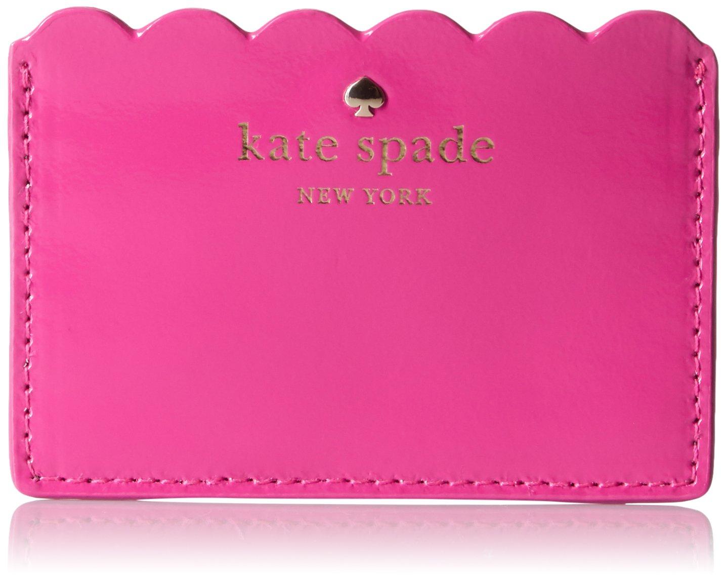 kate spade new york Women's Lily Avenue Patent Card Holder, Radish/Mahogany One Size