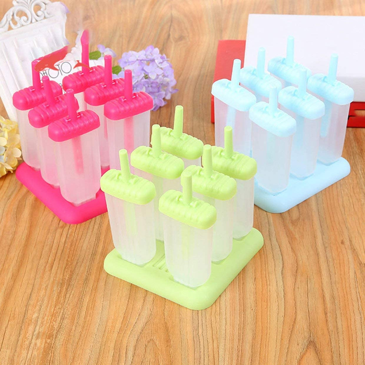 Fashion Popsicles Mold Plastic Frozen Ice Cream Mold Popsicle Maker Lolly Mould Tray Pan Maker Tool Cooking Tools