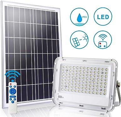 LEDMO LED Luz Solar Exterior 100W con Control Remoto 8M