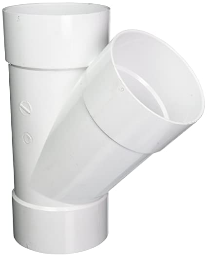 GENOVA PRODUCTS 41060 Solvent Weld Sewer and Drain Pipe Wye, 6 Inch, White