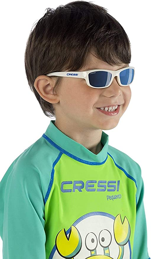 Cressi Kids Cool Sporty Sunglasses Anti-UV Polarized Lenses for 5 to 12 years old | Maka