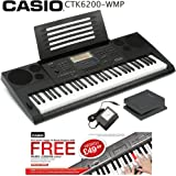 Casio CTK-6200-WMP 61-key Portable Arranger Touch Sensitive Keyboard + Official Casio® AC Adapter + Official Casio® Sustain Pedal + FREE Lessons - Fulfilled by Amazon (Prime)