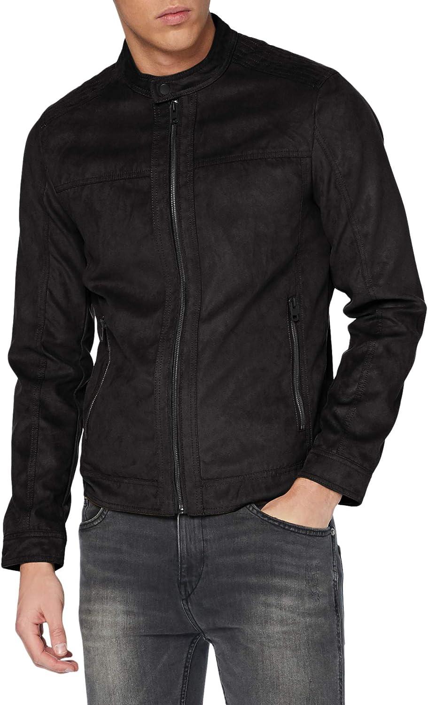 Jack & Jones Jjewarner Jacket Noos Chaqueta de Cuero sinttico para Hombre