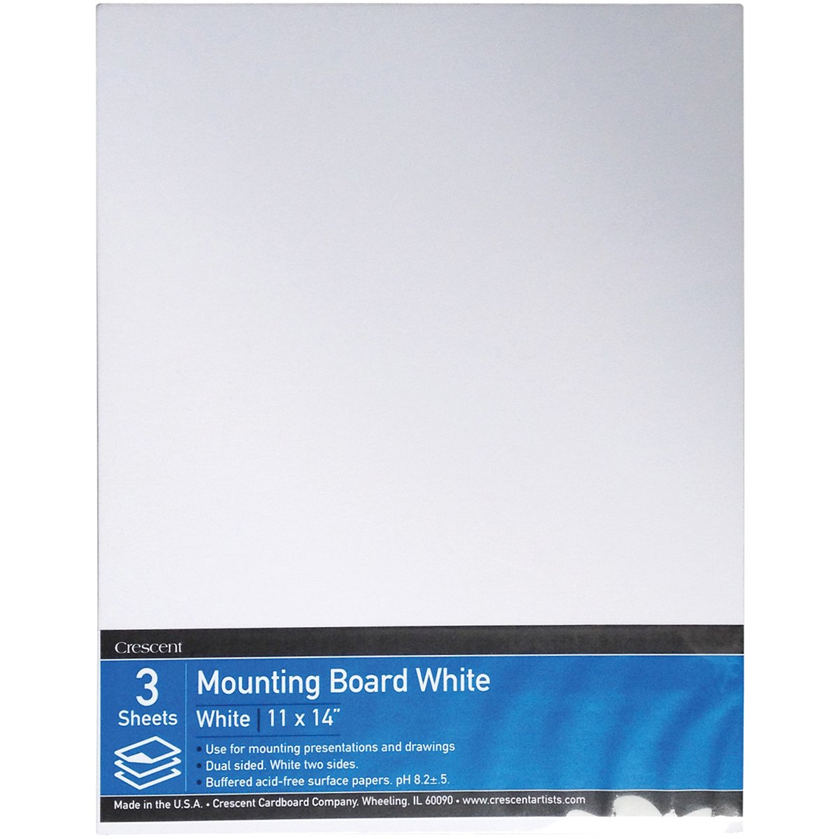 Crescent Cardboard Mounting Value Pack, 9 by 12-Inch, White, 3-Pack Crescent Cardboard Co VPX-0912