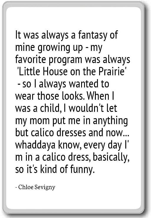Chloe Sevigny citas imán para nevera con texto en inglés «It was ...