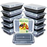 Enther Meal Prep Containers Single Lids Food Storage Bento BPA Free | Stackable | Reusable Lunch Boxes, Microwave/Dishwasher/Freezer Safe Portion Control (28 oz), 12 Pack 1 Compartment