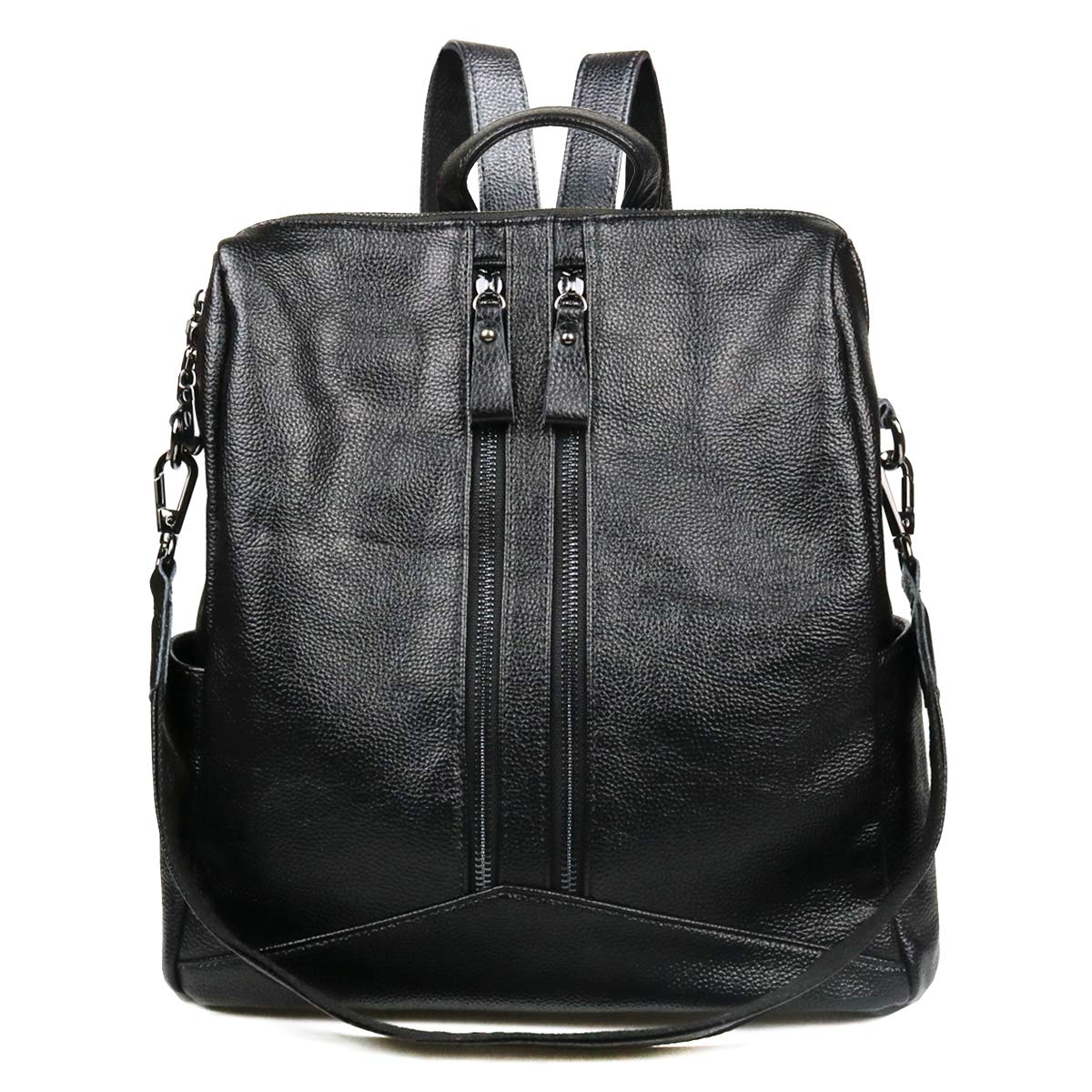 Women Black Leather Backpack Purse Fashion School Bags Shoulder Bag Casual Daypack