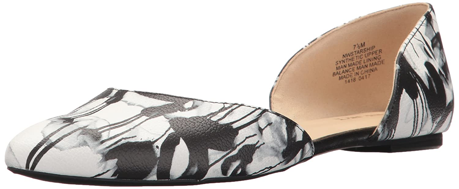 Nine West Women's Starship Synthetic Ballet Flat B01NAEERYA 8.5 B(M) US|Black/Multi Graphite