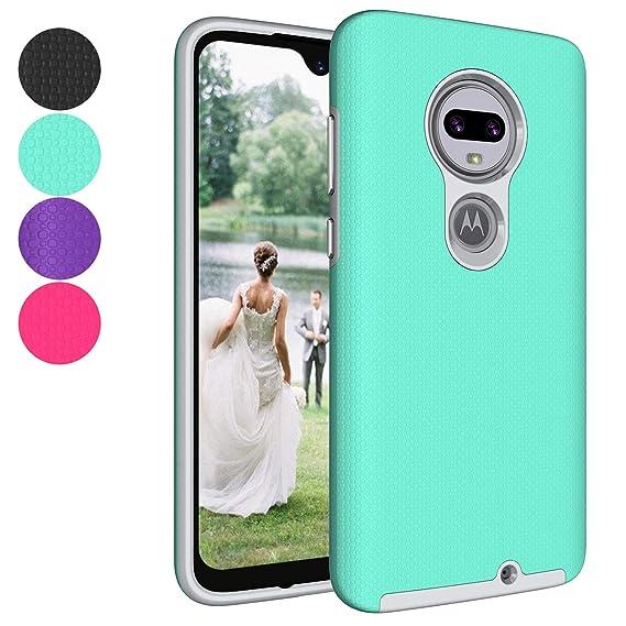 Ownest Compatible Moto G7/G7 Plus Case Cover,Anti-Fingerprint Non Slip  Case,Resistant Thin Lightweight Slim Protective Cases for Motorola Moto  G7/G7