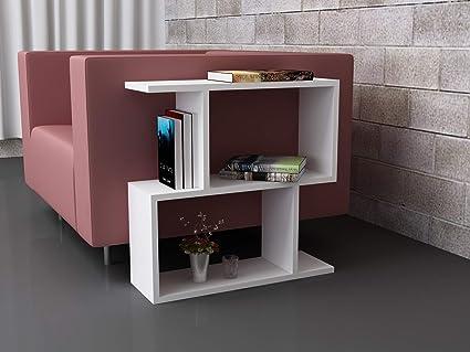 Amazon.com: Decorotika Sarah Modern White End Table Side ...
