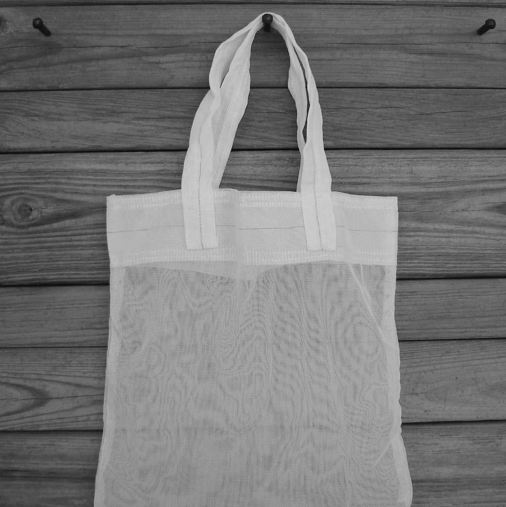 Small Grid Mesh White Parachute Slider Bag