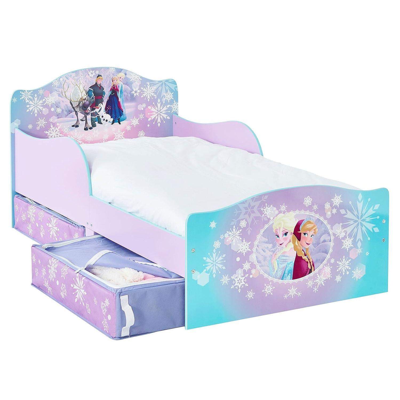 Holz Kinderbett Mit Schubladen Frozen 140x70cm Kleinkinderbett