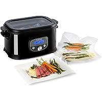 Klarstein Jacuzzi Olla de cocción al Vapor 6l 520W +/-0,5 °C LCD (Temperatura Regulable, Cocina Baja Temperatura, Ideal Alimentos al vacío, Acero Inoxidable Cepillado)