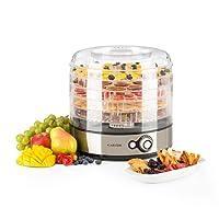 Klarstein Fruitower M • Dörrautomat • Dörrgerät • Obst-, Fleisch- und Früchte-Trockner • 200 - 240 Watt • 5 Ablagegitter • Deckel • An-/Aus-Schalter • einstellbare Temperatur 35-70°C • kompakte Größe • einfache Reinigung • Edelstahl-Gehäuse