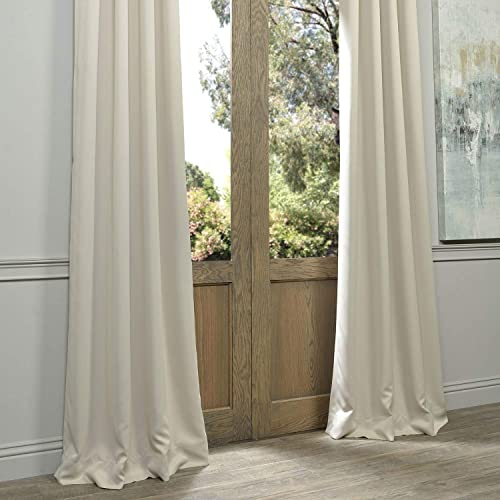 HPD Half Price Drapes BOCH-120601-108-GR Eggnog Grommet Blackout Room Darkening Curtain 1 Panel , 50 X 108, Egg Nog