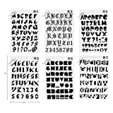 Plastic Number and Letter Stencils Templates Set