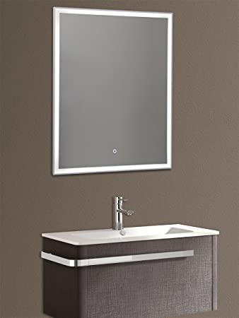 Yellowshop U2013 Spiegel Spiegel Cm X X H.90 A Licht LED Hintergrundbeleuchtung  Draht Wand Badezimmer