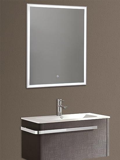 Specchio Con Luce Led Integrata.Yellowshop Specchio Specchiera Cm L 70 X H 90 A Luce Led