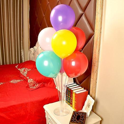 ZYQHY Soporte flotante de plástico para globos de mesa, para boda ...