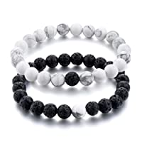 "Couple & Combo""Certified"" Natural Stones Reiki/Yoga Healing Stylish Distance Bracelet. Fashion Jewellery by Hot And Bold."