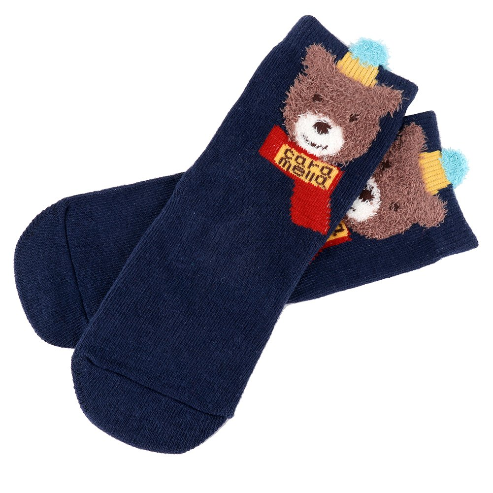 Ehdching 4 Pairs Baby Boys Girls Chirstmas Cartoon Animal Cotton Ankle Socks for 1-8T Children Toddler Kids