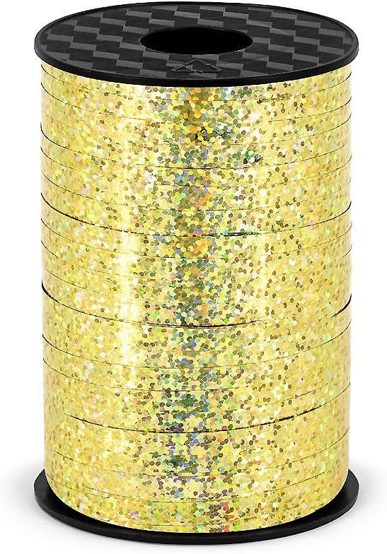 DekoHaus Polyband in Brokatgold 5mm//225m Geschenkband