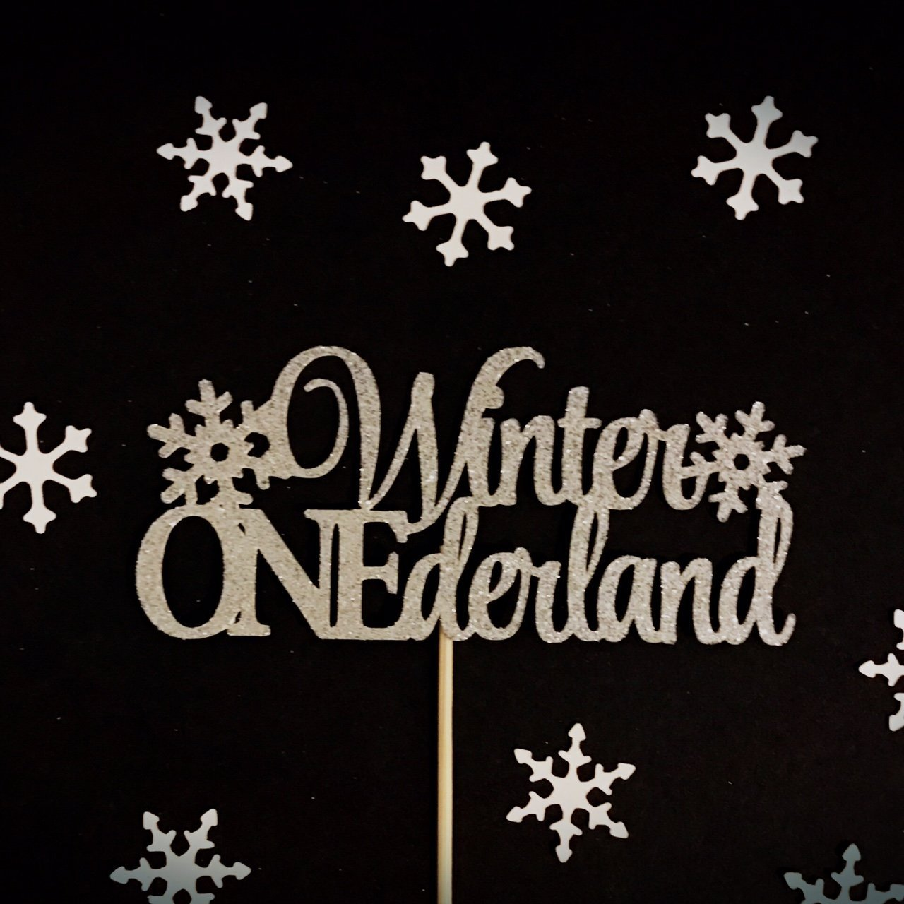 Winter Onederland Cake Topper, One Cake Topper, Snowflake One Cake Topper, First Birthday Cake Topper, 1st Birthday Cake Topper, Little Snowflake Cake Topper, Winter Birthday Cake Topper