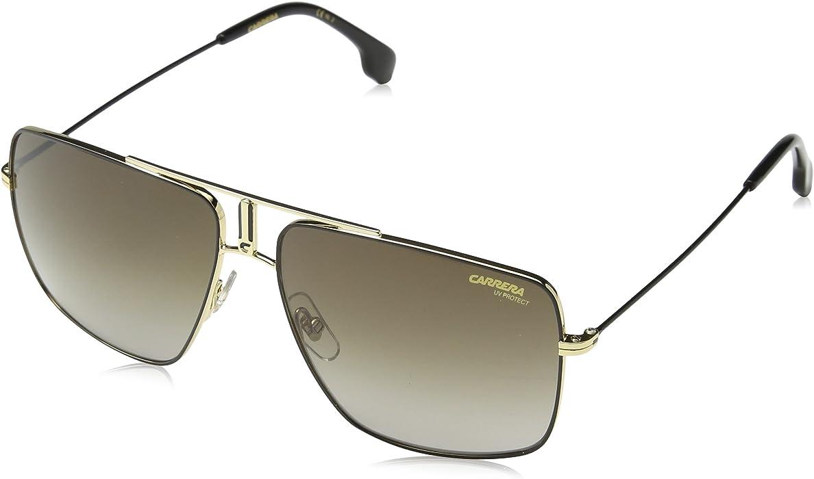 dc885c39ab7b3f Amazon.com  Carrera 1006 s Rectangular Sunglasses, Black   Gold, 14 ...