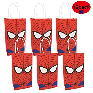 Amazon.com: Bolsas de regalo de Spiderman hechas de papel ...