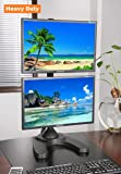 """EZM Vertical Dual LCD Monitor Mount Stand Freestanding with Grommet Mount Option up to 27"""" (002-0014)"""